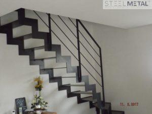 Escalier métal quart tournant