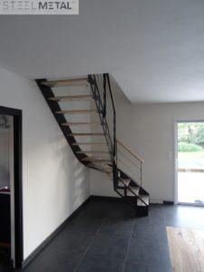 escalier quart tournant avec découpe laser