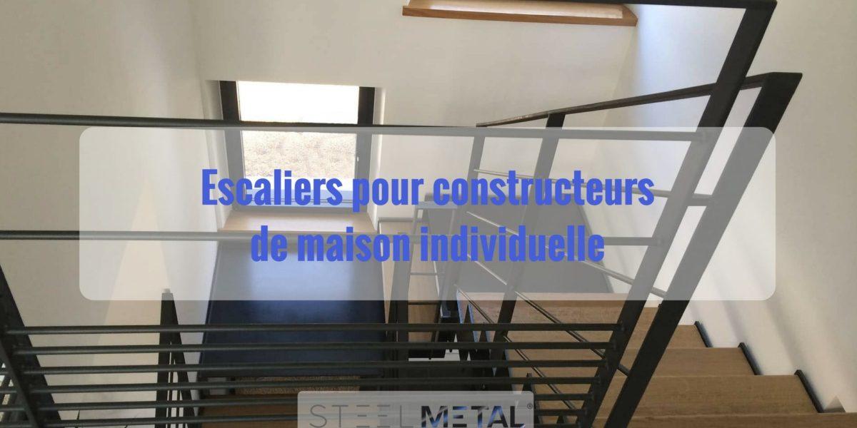 Escalier pour construction de maison individuelle