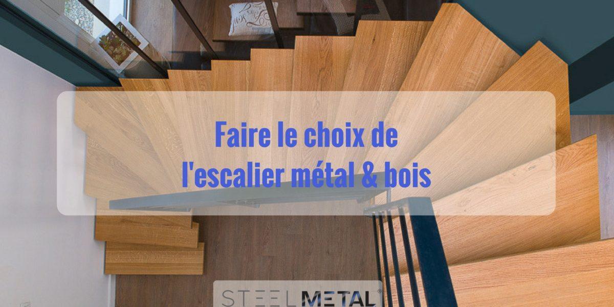 Choix d'un escalier en metal bois
