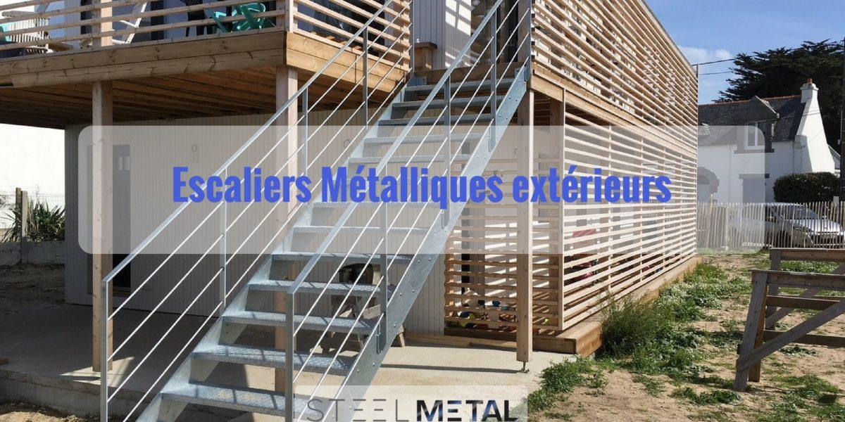 Escalier métallique extérieur