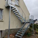 Escalier galvanisé extérieur