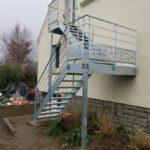 Escalier métallique extérieur - Vannes