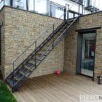 escalier extérieur galvanisé