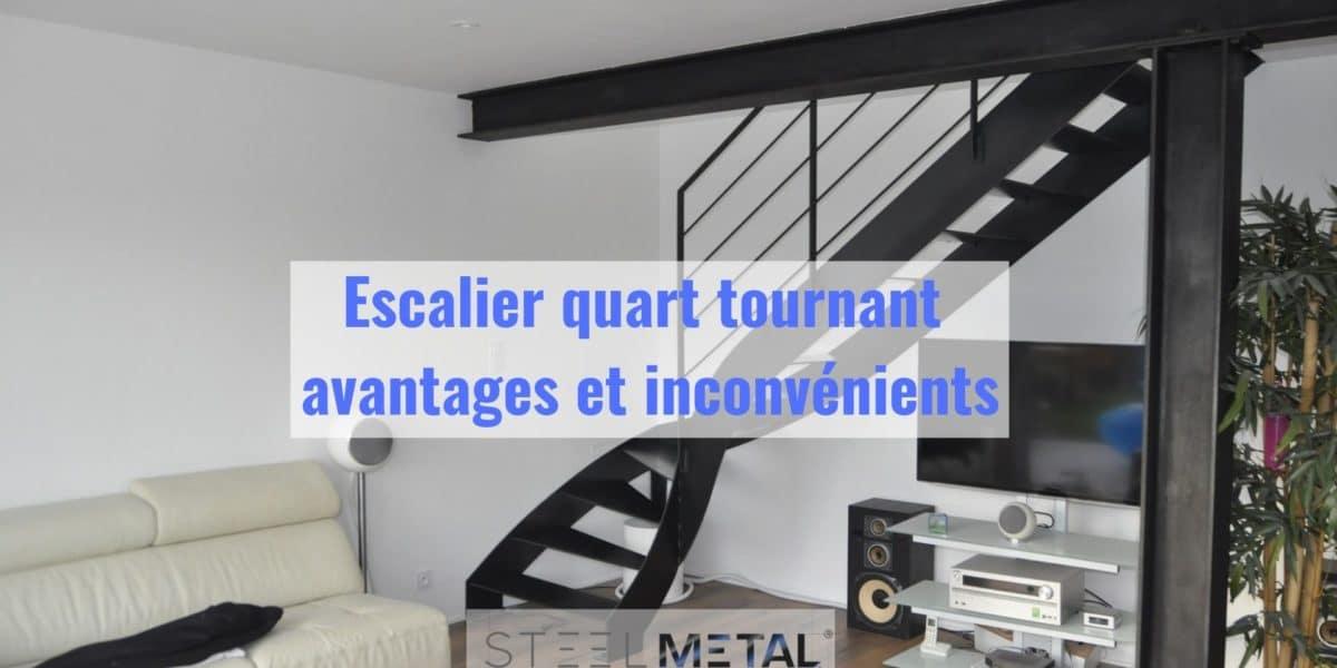 Escalier quart tournant - avantages et inconvénients