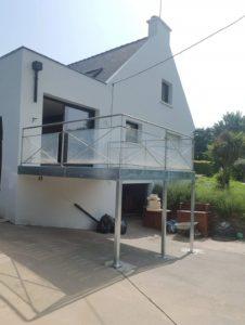 Terrasse extérieure galvanisée