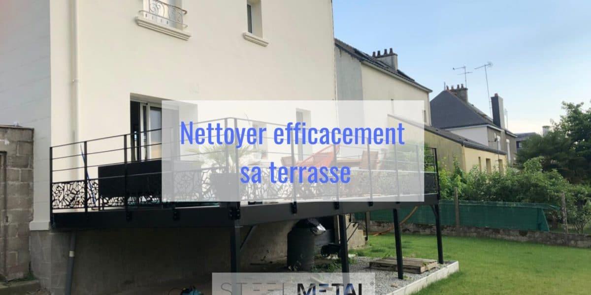 Nettoyer efficacement sa terrasse