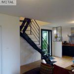 Escalier métal 2/4 tournant - Jarn