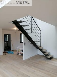 Escalier jarn quart tournant en métal