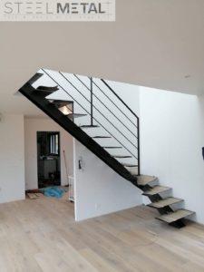 Escalier métal 1/4 tournant - Jarn