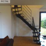 Escalier tout acier 2/4 tournant - Jarn